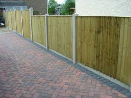 Concrete Fence Posts And Gravel Boards