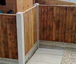 Does Rain Impact My Ability to Install Concrete Fencing - corner-post